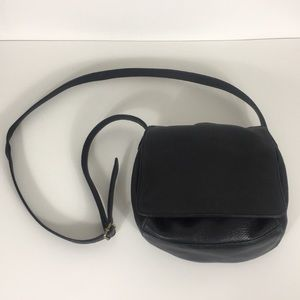 Nine West Black Leather Crossbody Purse